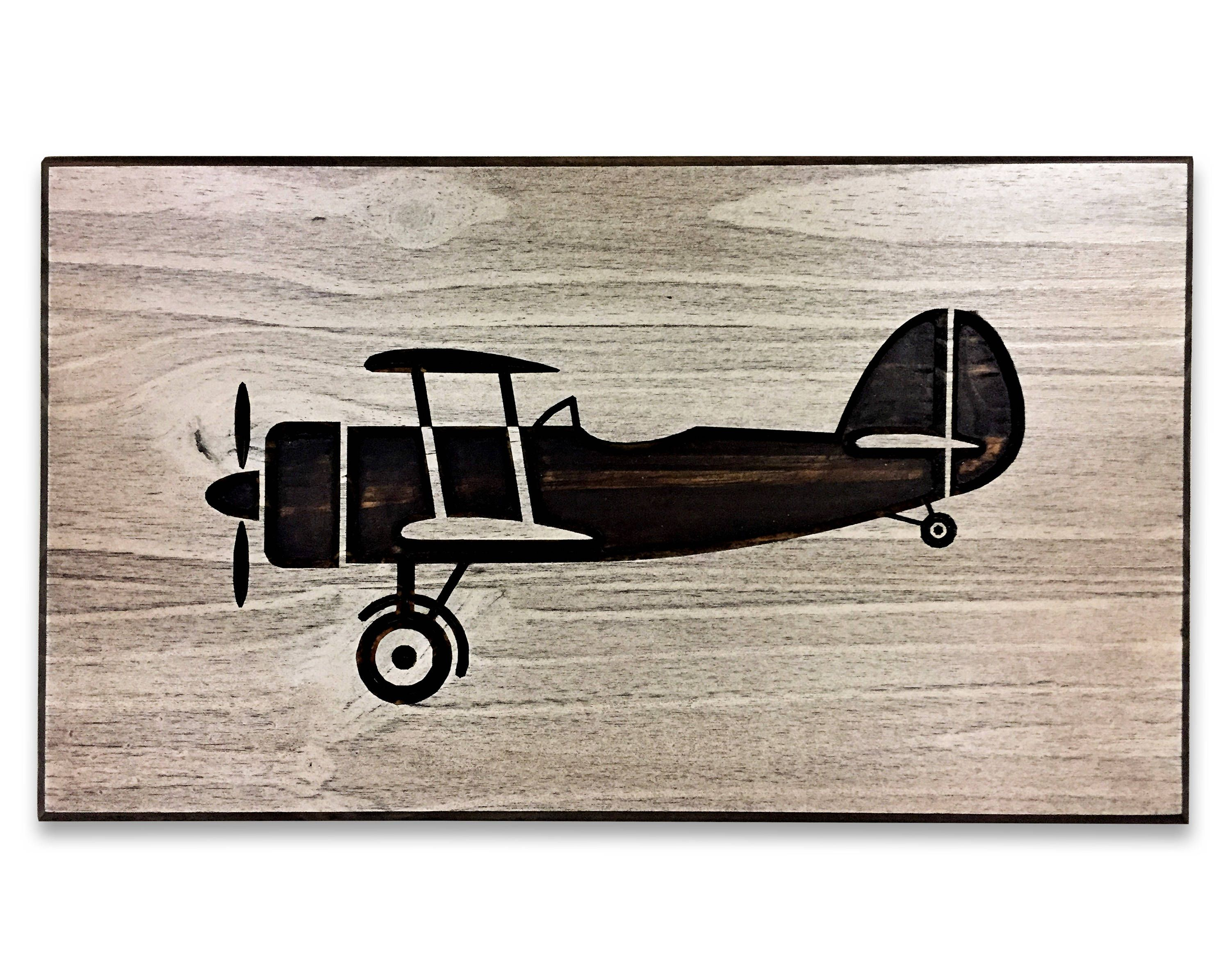 Airplane Art Wood Wall Art Picture Of Airplane Carved Engraved