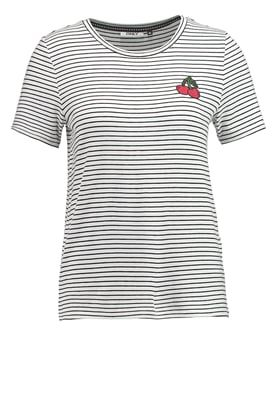 ONLSTRATELLA - T-shirt print - cloud dancer/black