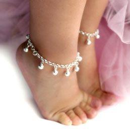 darling little ankle bracelets