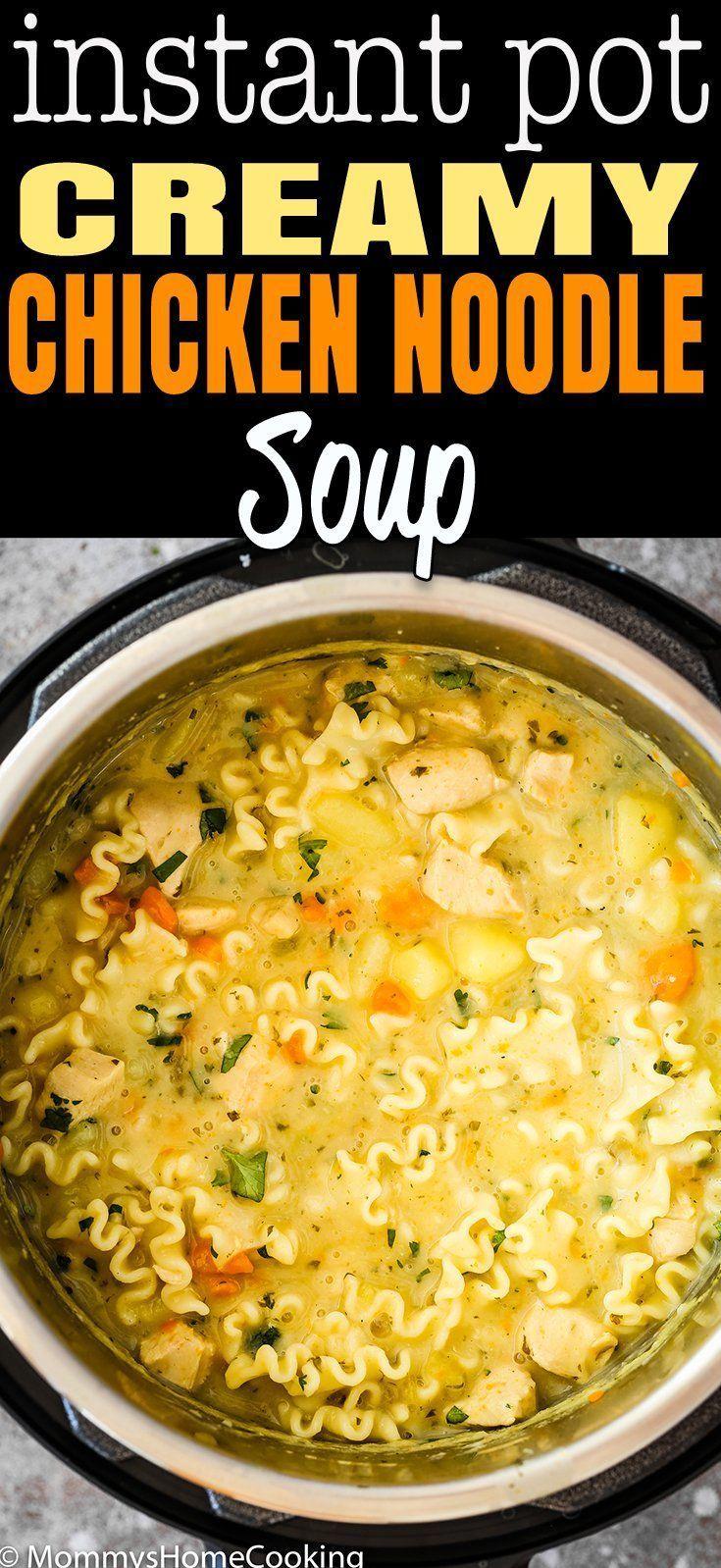 Pressure Cooker Creamy Chicken Noodle Soup [Video]