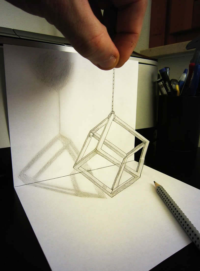 3D Illusion Drawings by Alessandro Diddi | Search, Cubes and ...