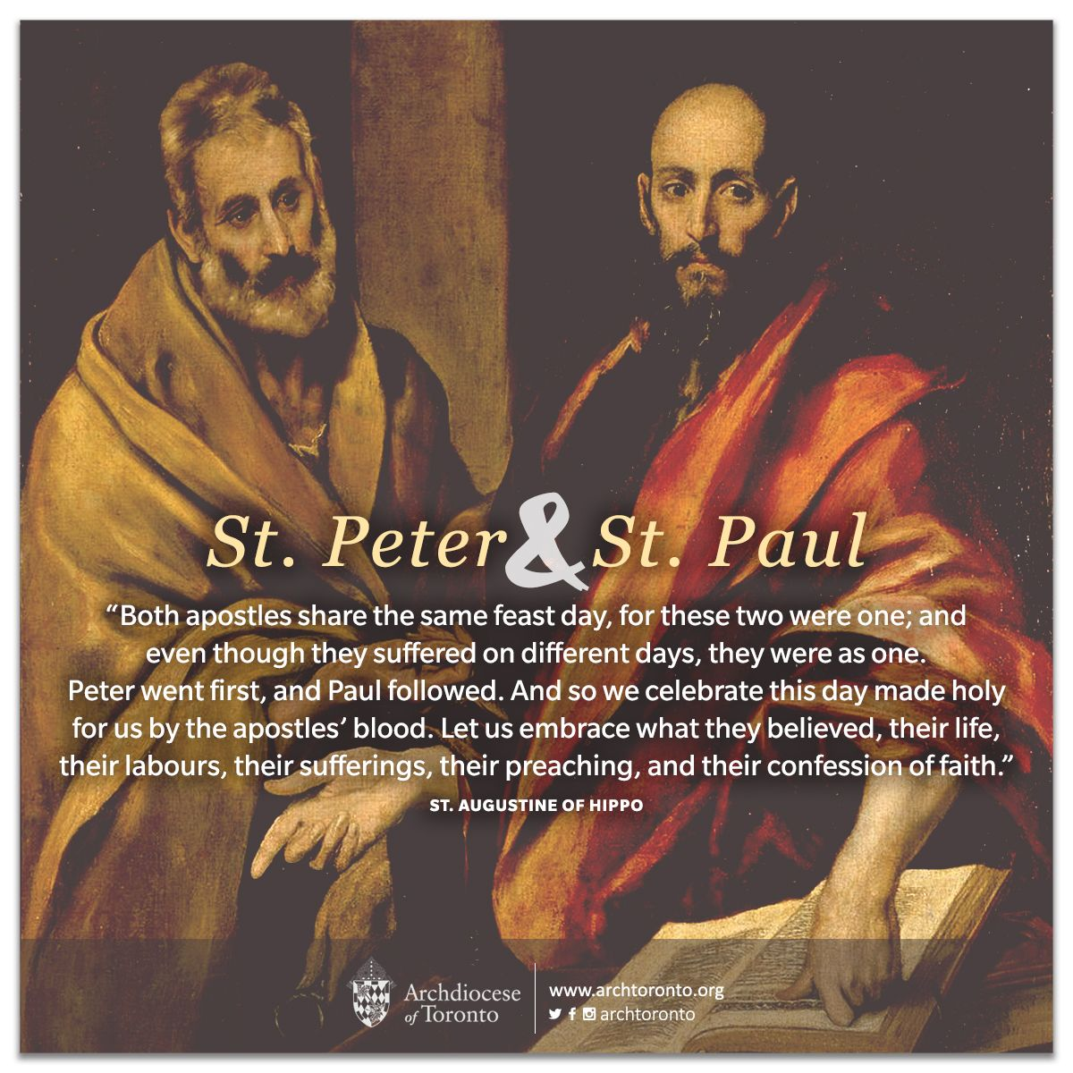 Solemnity of St. Peter the Apostle, and St. Paul the