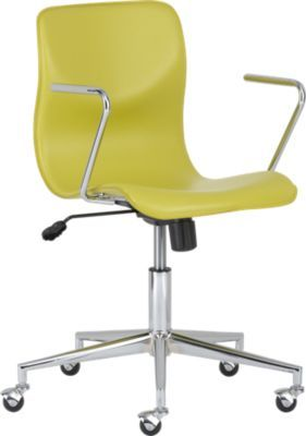 Bubble Chartreuse Leather Office Chair Cb2 Very Fun And