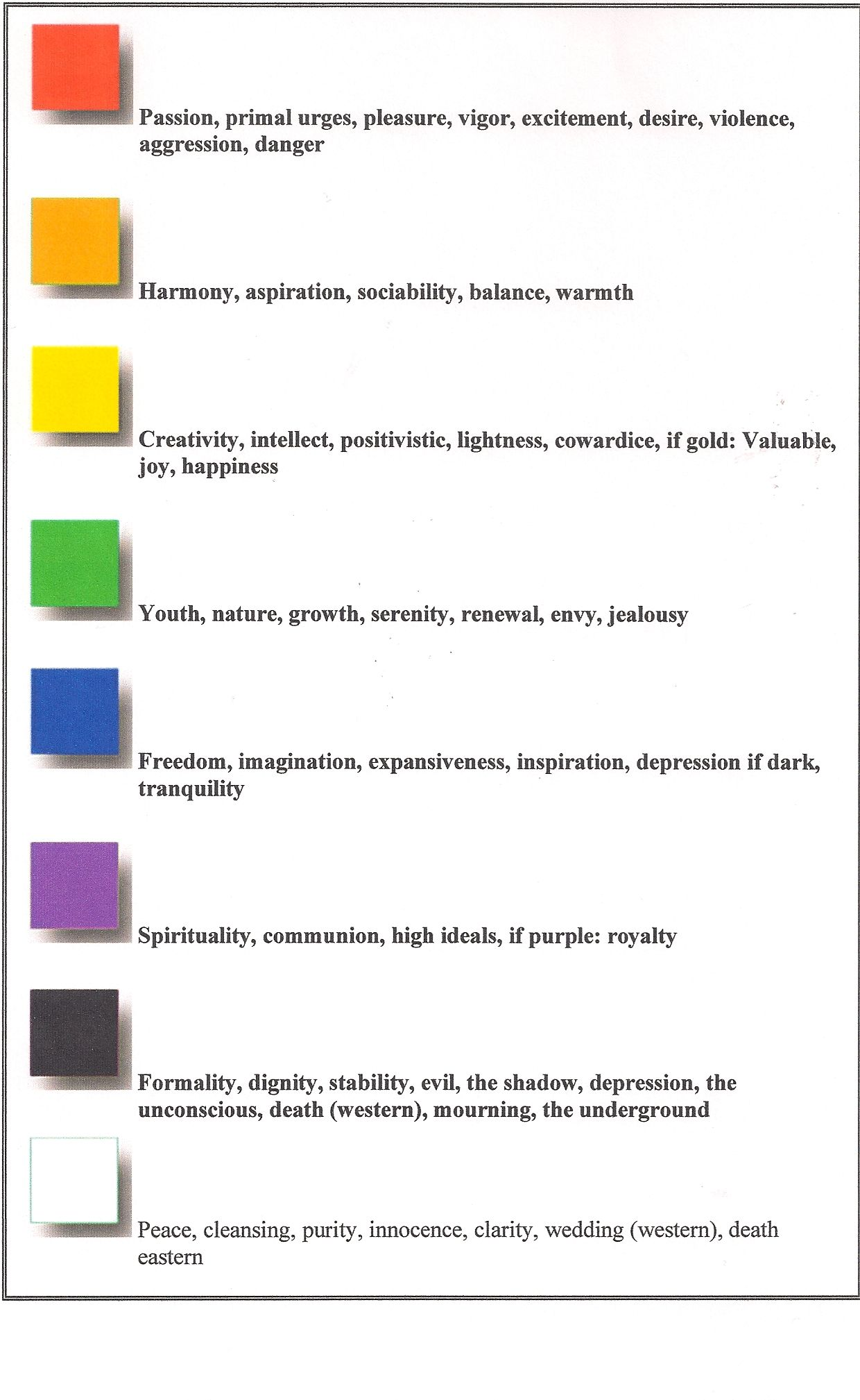 Meaning Of Colors In A Dream Fashion Dream Symbols