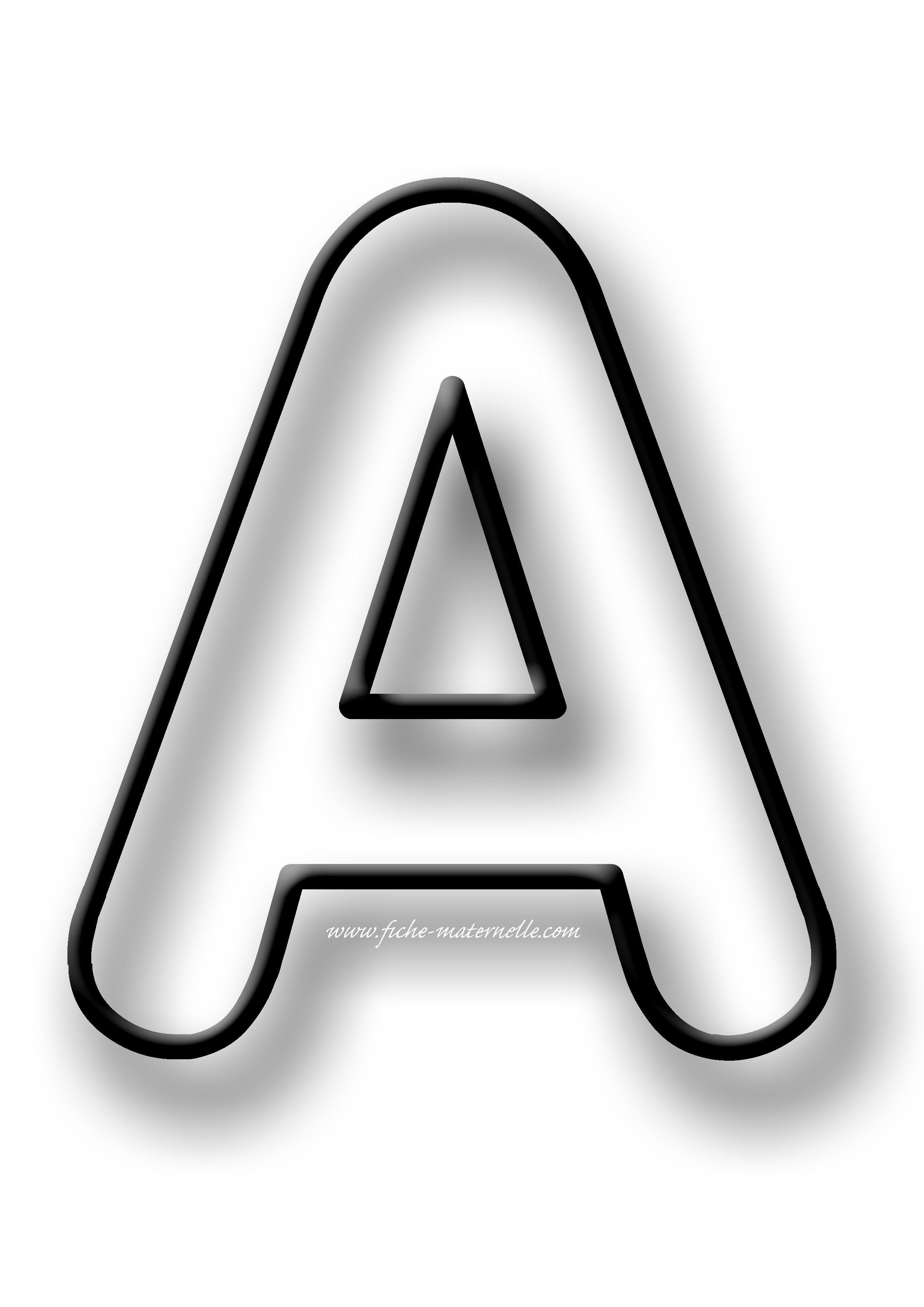 Coloriage des LETTRES | Alphabet à colorier, Lettres de l ...