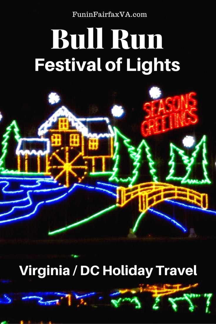 Bull Run Festival of Lights Holiday Drive Through Fun in