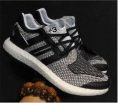 77e4c0297791 2018 Genuine UK Trainers 2017 Adidas Y-3 Pure Boost Zg Knit Dark Grey Core  Black Noir Youth Big Boys Sneakers