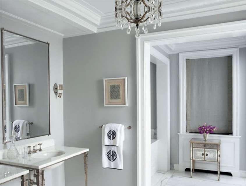 Bagno grigio ~ Pareti bagno grigio chiaro in bagno
