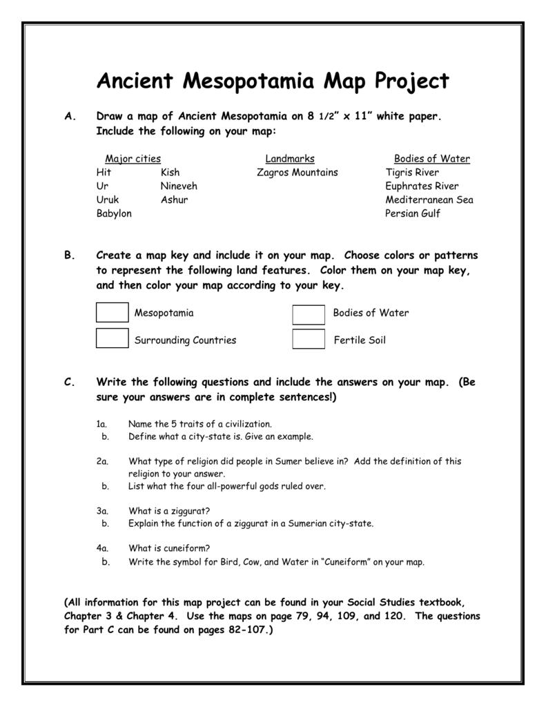 medium resolution of Ancient Mesopotamia Map Project   Ancient mesopotamia map