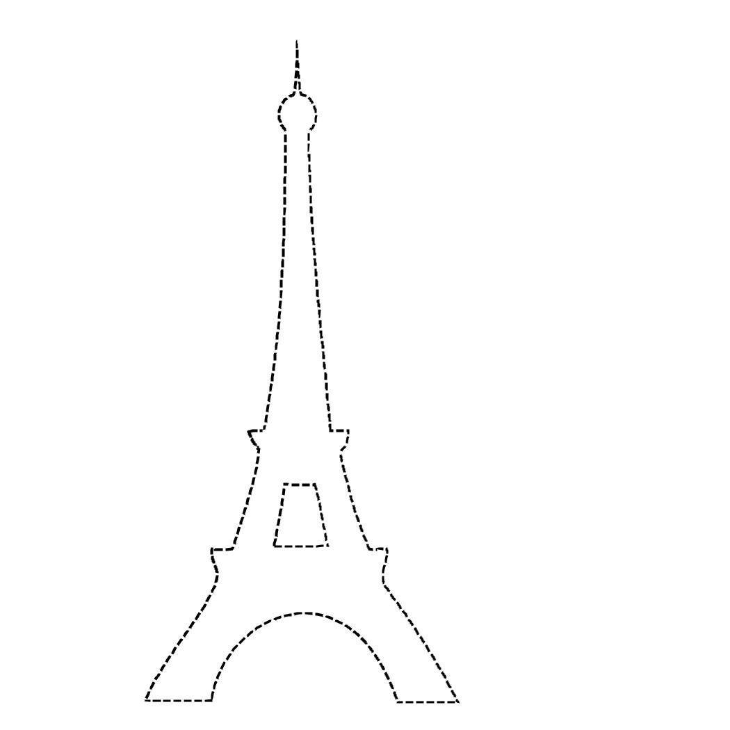 Eiffel Tower Applique Outline Torre Eiffel Torre Eiffel Dibujo Torre Eifel Dibujo