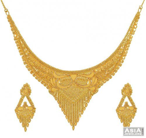 Gold Necklace Set Indian design gold love Pinterest Gold