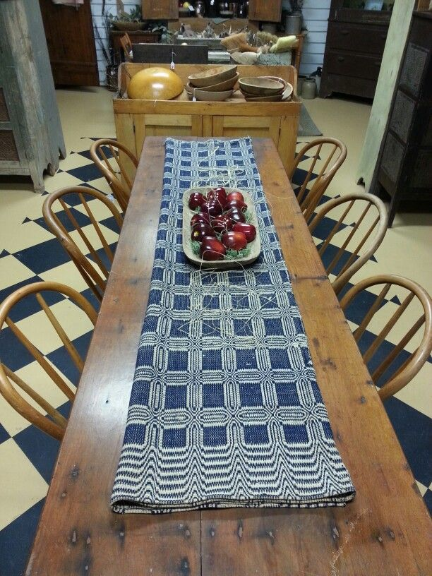 Another COVERLET Idea~ Table Runner! Perfect On An Old Harvest Table!
