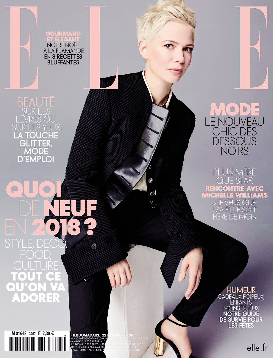 michelle williams on the cover of �elle� france style