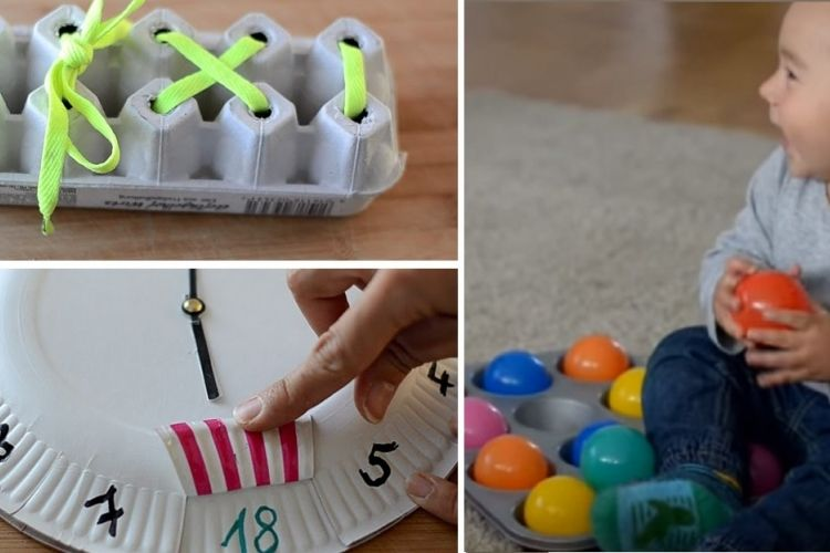 8 activit s ducatives faire facilement la maison pour les petits montessori activities - Bricolage a faire a la maison ...