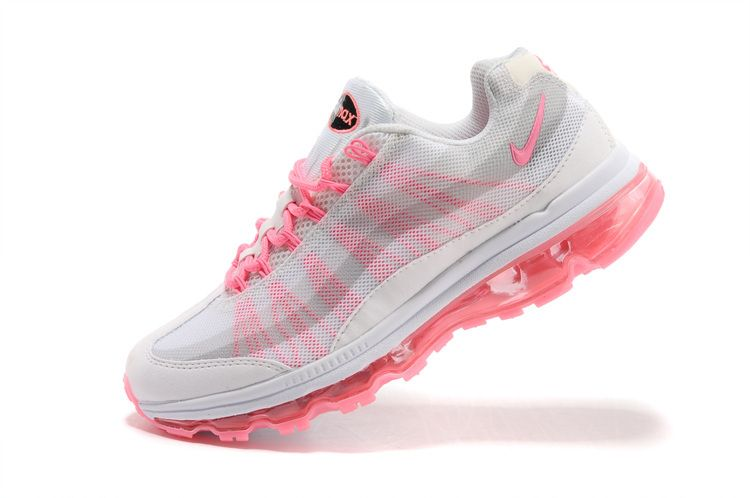 low priced a41d0 41ea8 Nike Air Max 95 Dynamic Flywire Womens White Polarized Pink Strata Grey