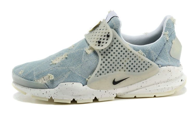 quality design 21892 4e7f0 Girl WMNS Nike Sock Dart lightning Denim Jean Blue White White Nike Socks, Sock  Dart