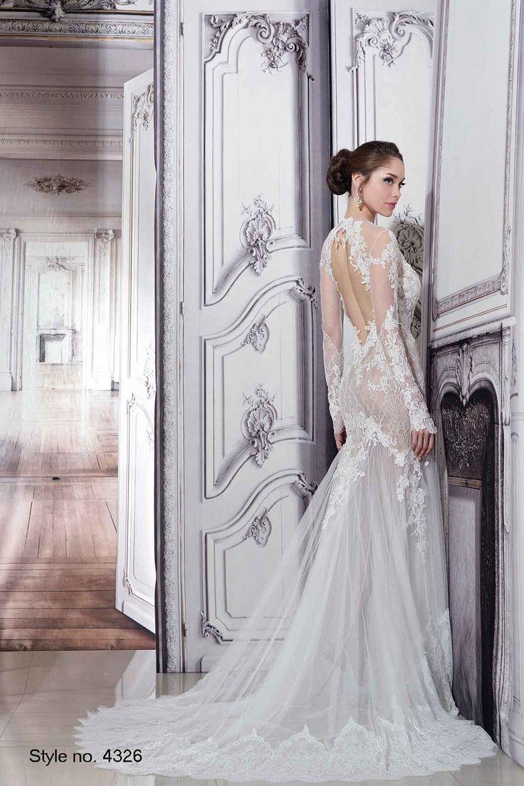 Pnina wedding dress  Sheath Wedding Dress  Pnina Tornai Style  back  Sheath