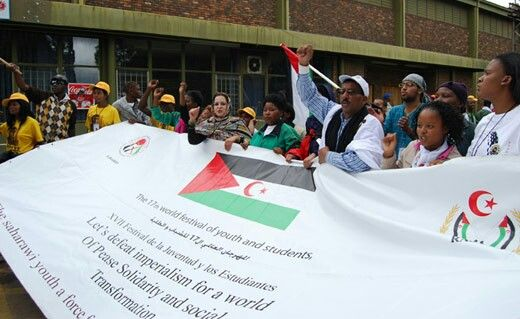 Saharawi protest in Pretoria south Africa.