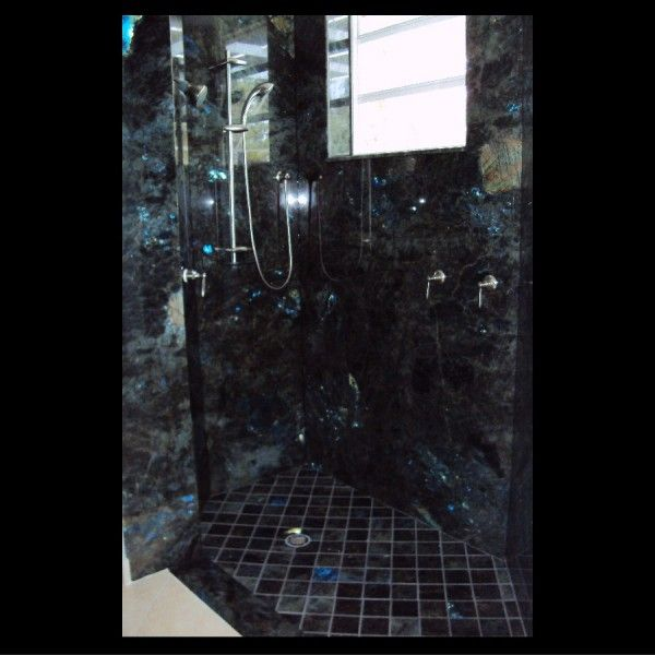 Blue Pearl Granite Bathroom Ideas: Marble Of The World, Bathroom Shower With Labradorite Blue