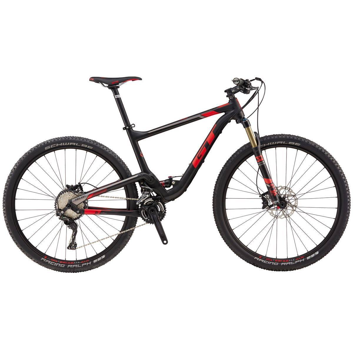 GT Helion Carbon Expert 9R Complete Mountain Bike 2017 RaRed L ...