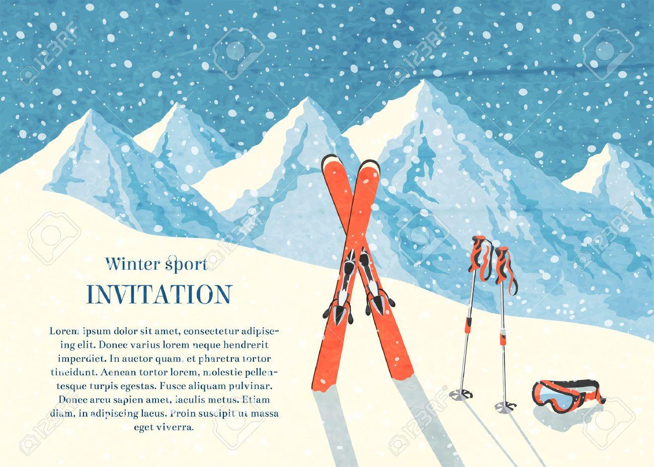 Image Result For Apres Ski Invitation Image De Ski Carte