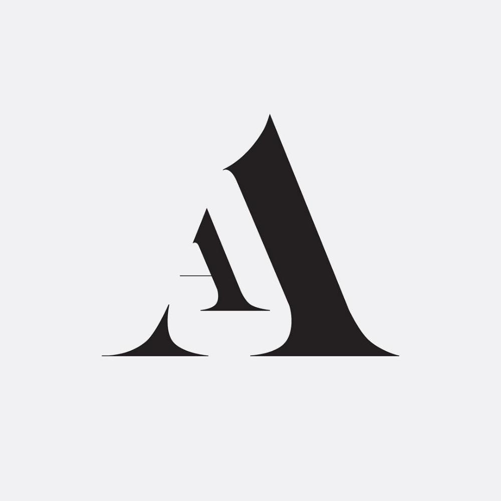 Aa Monogram By Hope Meng Design Www Hopemeng Com Lettering Design Logo Design Inspiration Graphic Design Logo