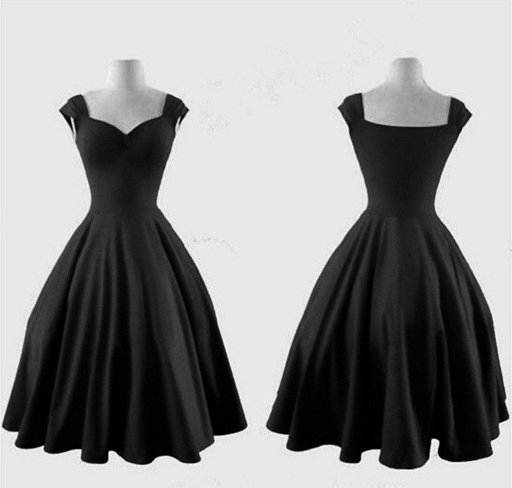Black Vintage Dress Fairy Tales Robe Fringues Vetements