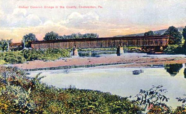Oldest Covered Bridge In Crawford County Cochranton Pa 1900 Covered Bridges Wales England Local History