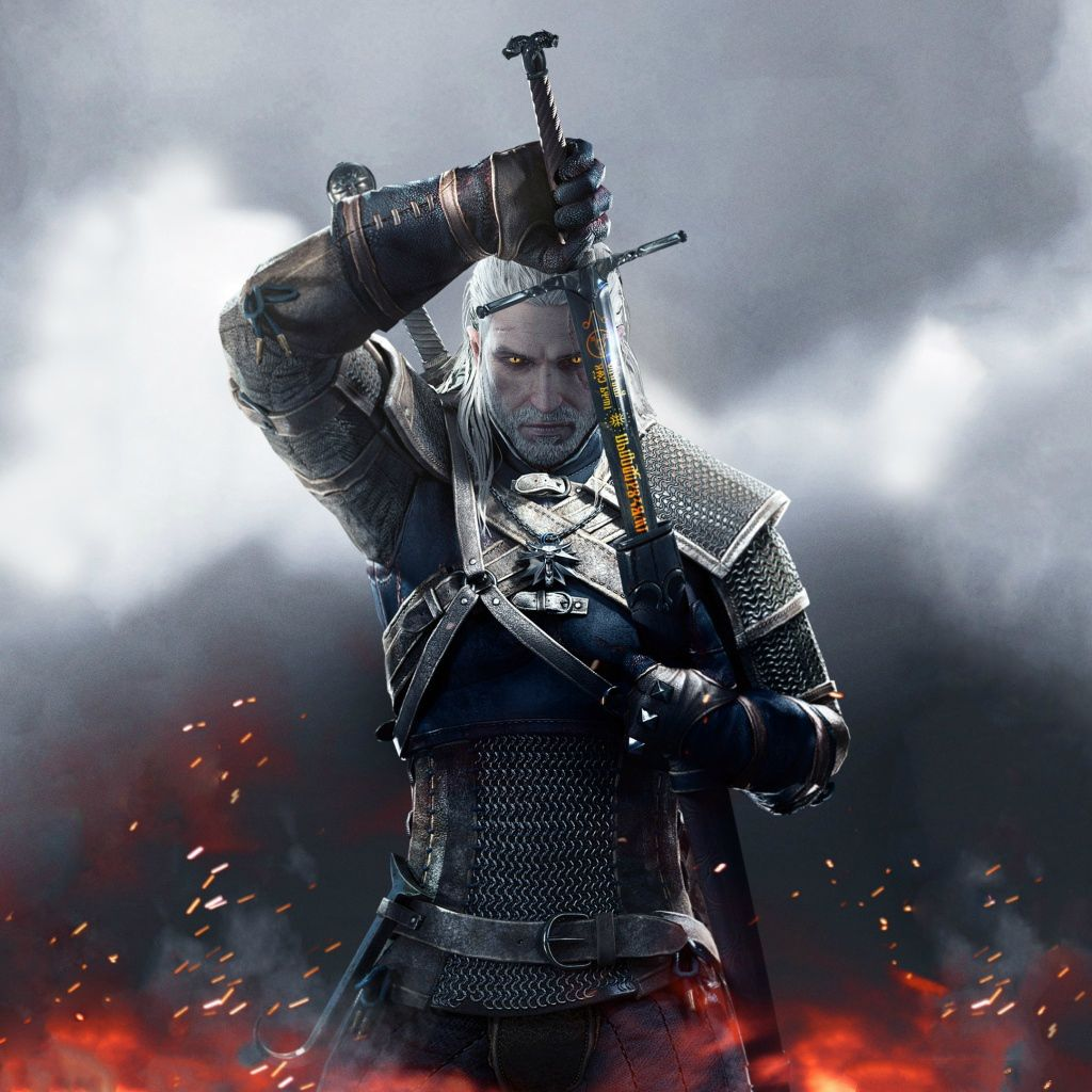 Witcher 3 Wild Hunt Geralt iPad wallpaper iPad