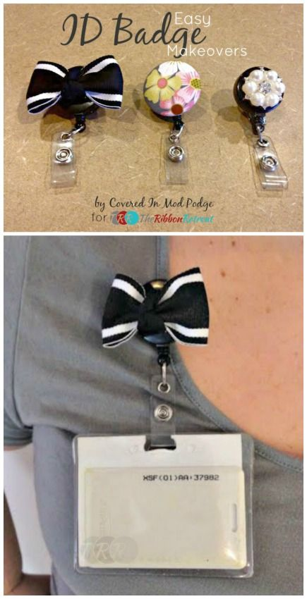 Easy Id Badge Makeovers The Ribbon Retreat Blog Badge Holders