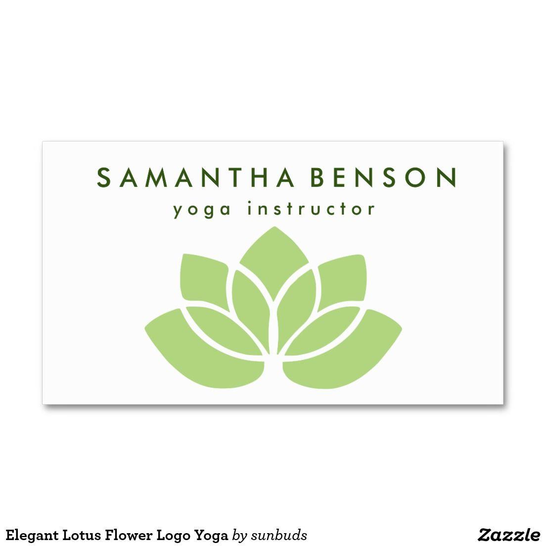 Elegant Lotus Flower Logo Yoga Business Card | Flower logo ...