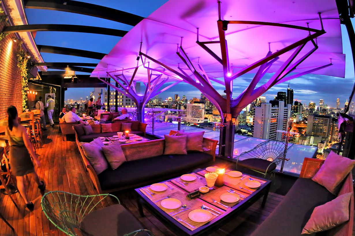 Above Eleven is a very popular 32-storey rooftop bar on ...