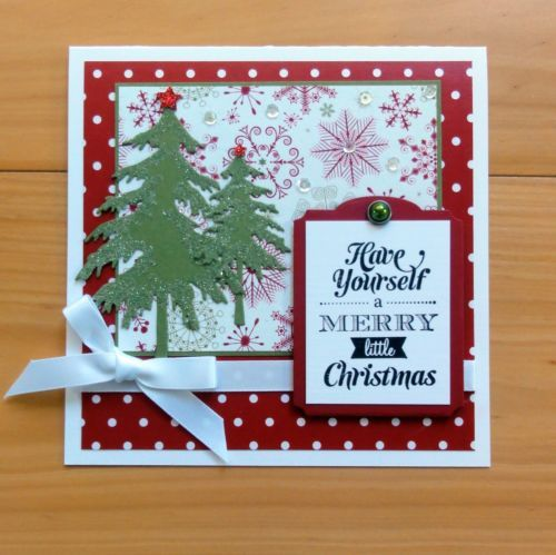 SNOW-FESTIVE sample card CHRISTMAS SU 2015 Pinterest Snow - Sample Cards