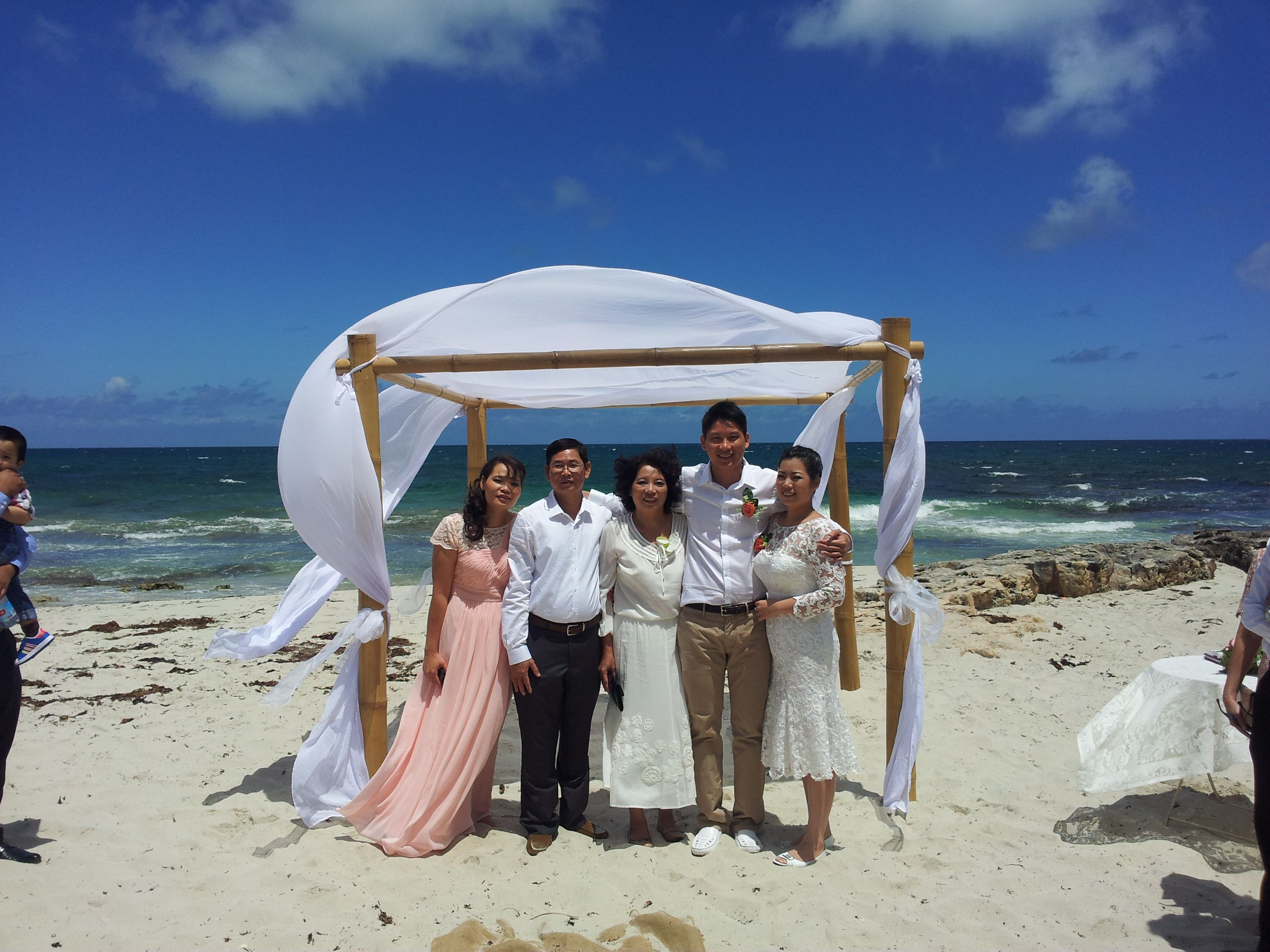 Wedding Ceremony With Chuppah At The Northern End Of Iluka Beach