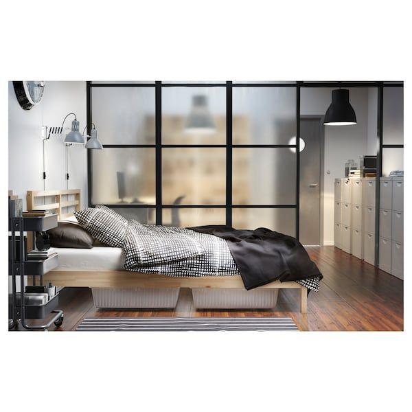 Ikea Tarva Bed Frame Pine Luroy Structure De Lit Cadre De Lit Et Ikea