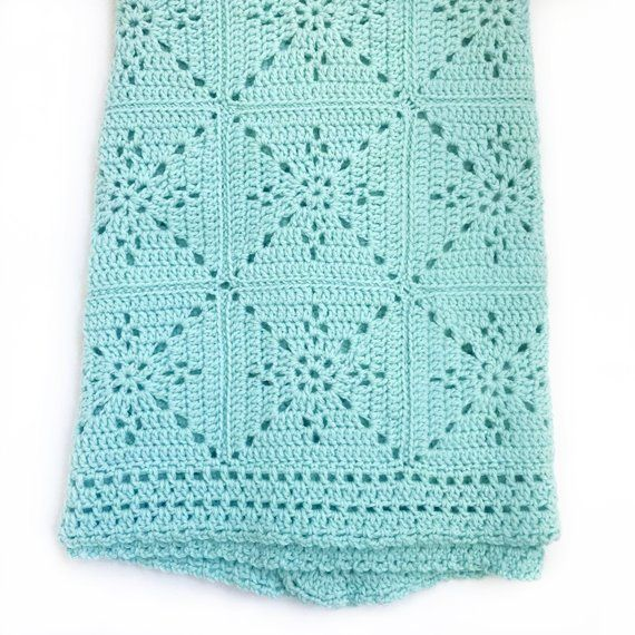 Crochet Baby Blanket Pattern - Arielle's Square - Easy Granny Square - Pattern by Deborah O'Leary Patterns