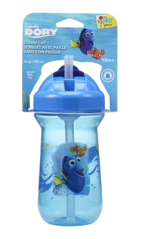 The First Years Disney//Pixar Finding Dory Flip Top Straw Cup