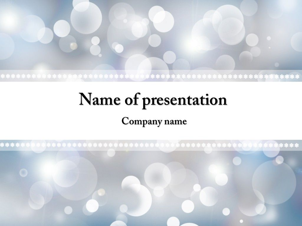 winter snowflakes powerpoint template | powerpoint templates, Powerpoint templates