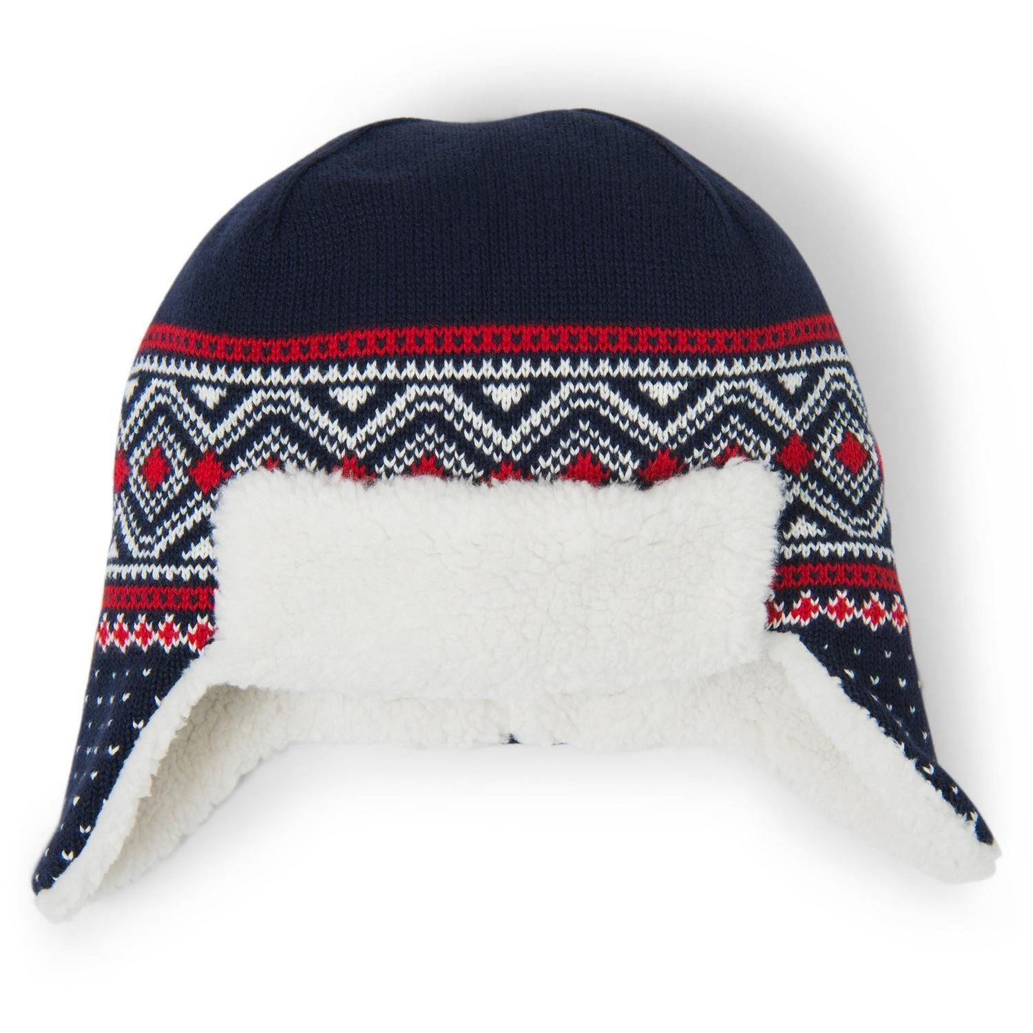 8694d853d97 Accessories Navy Fair Isle Sherpa Lined Fair Isle Hat by Janie and Jack