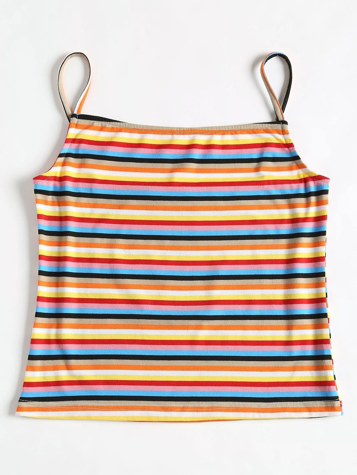 Striped Cami Top MULTI #stripedcamitops