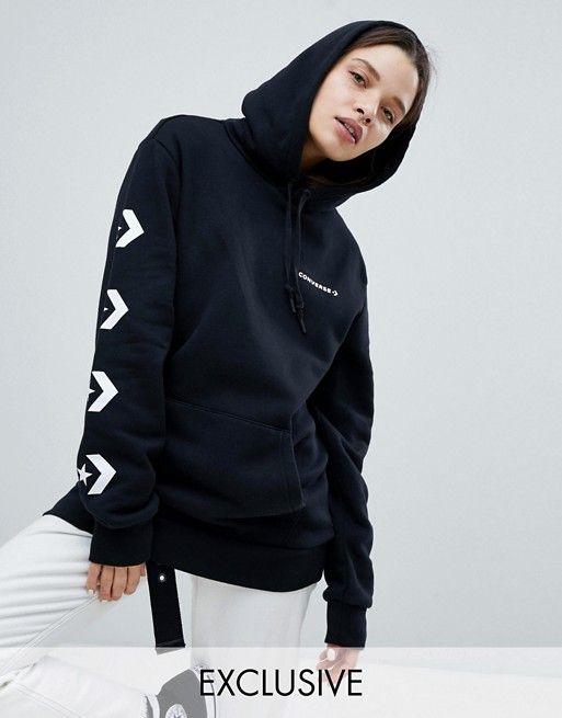 black converse hoodie