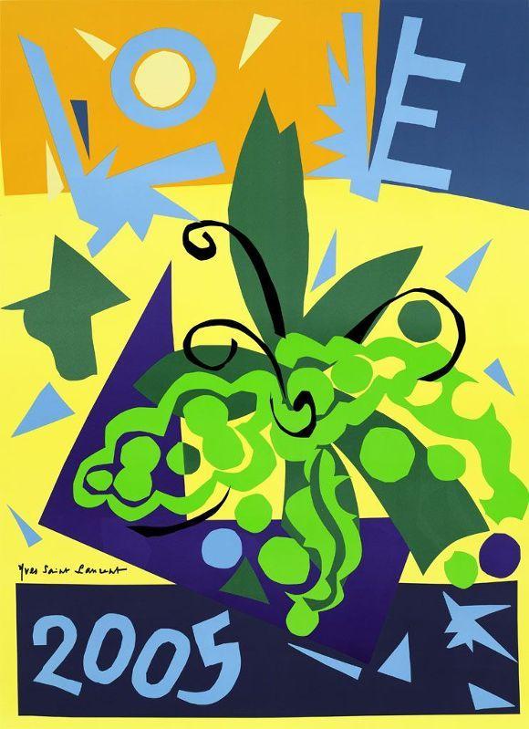 CARTE DE VOEUX - LOVE YVES SAINT LAURENT - 2005
