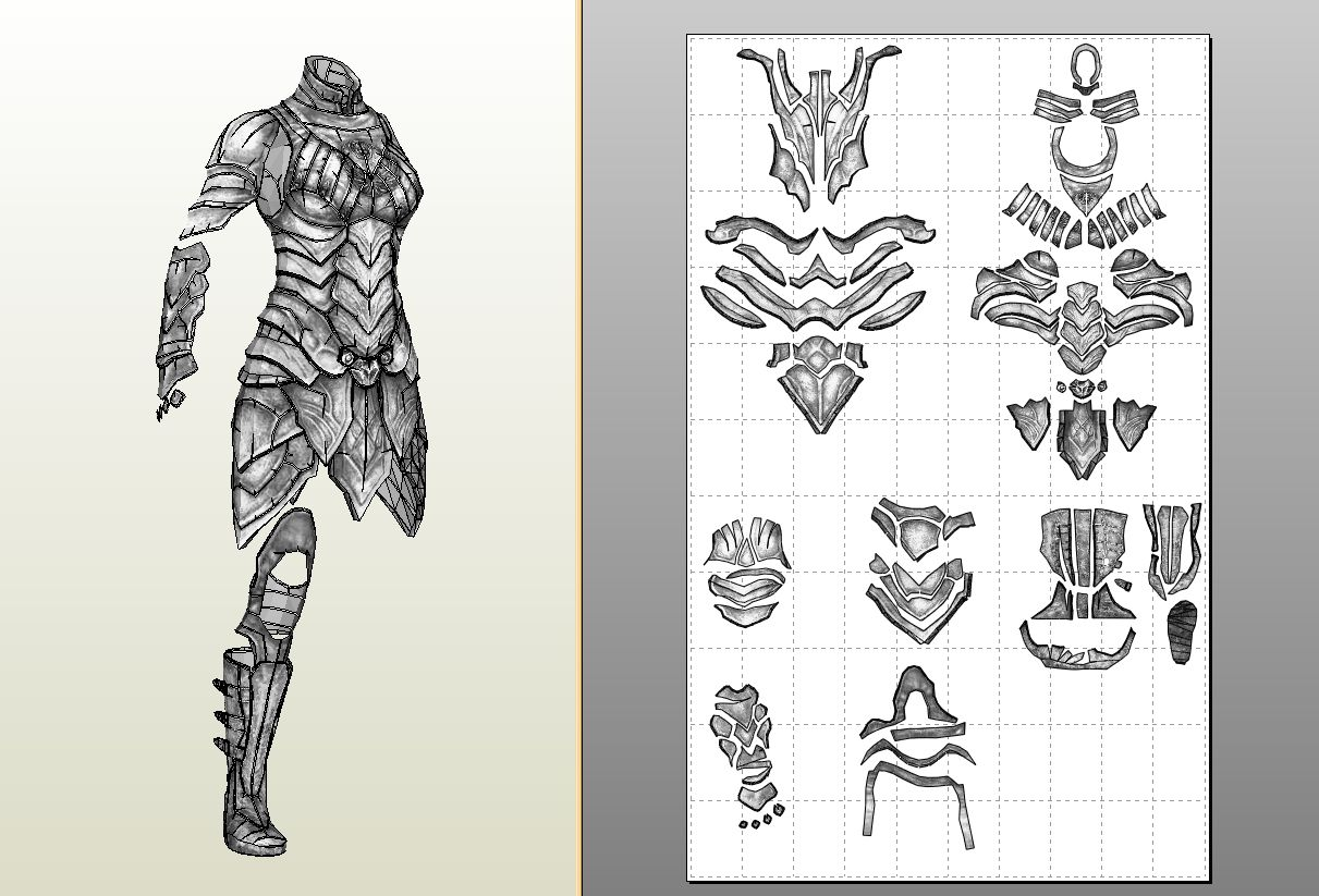 Armor Patterns Simple Decoration