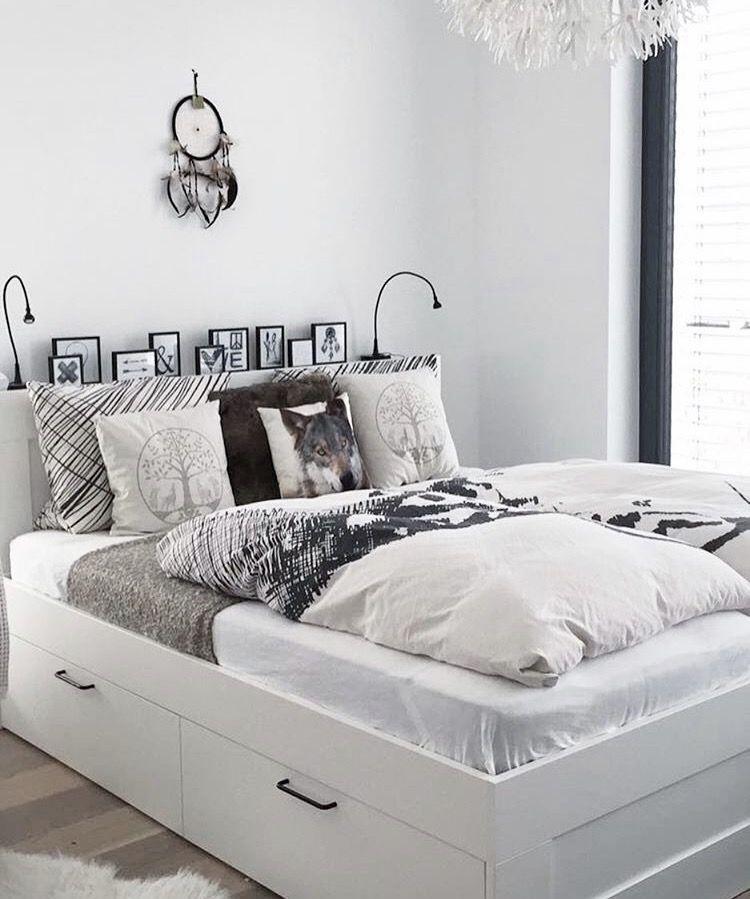 Ikea Bett Schlafzimmer Schlafzimmer Ideen Brimnes Bed White