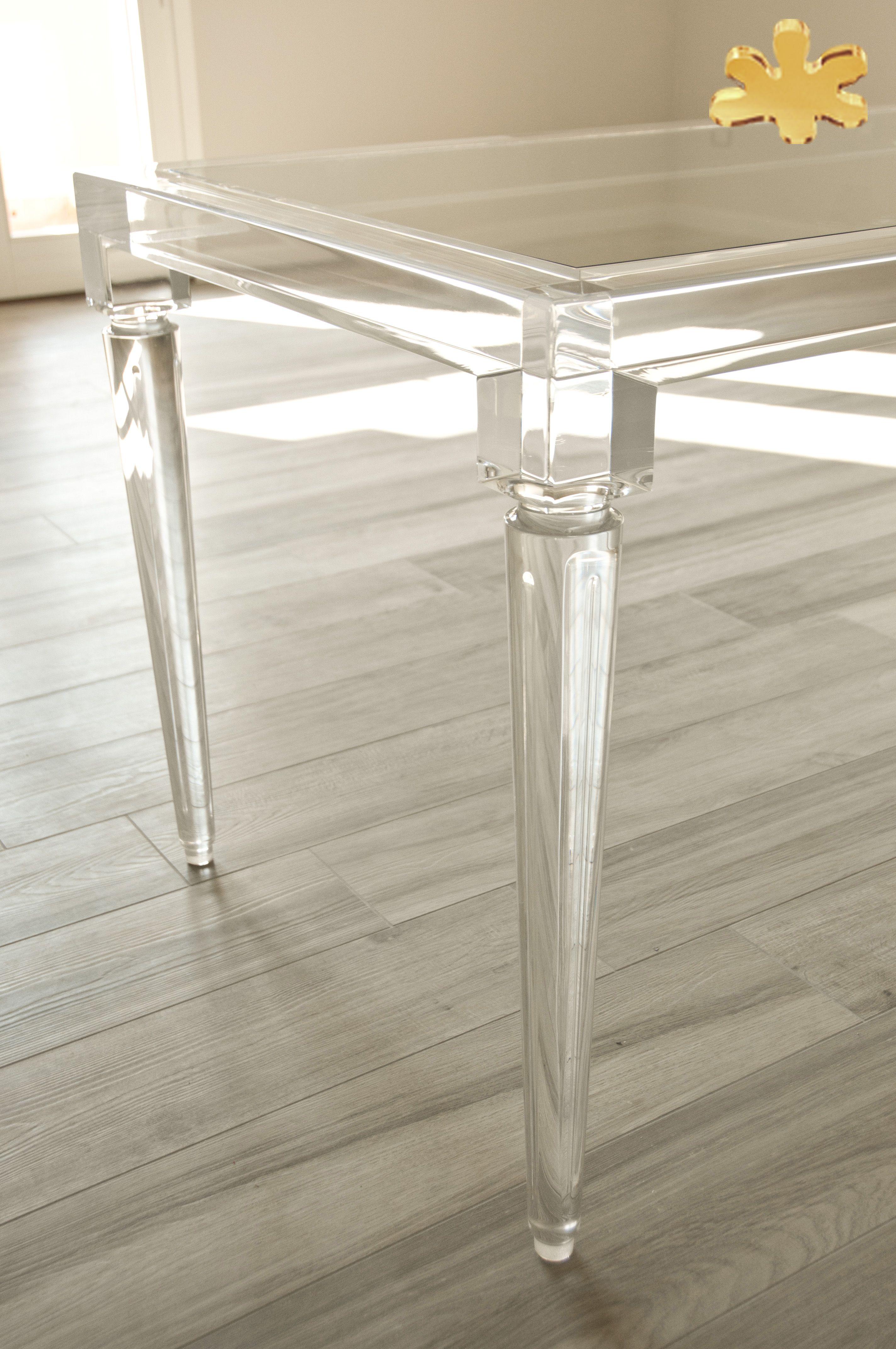 Acrylic Furniture   Lucite Acrylic Dining Table   TAVOLI PRANZO IN  PLEXIGLASS | Tavolo Trasparente In