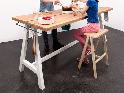 Cooking Table integrates appliances into the dining table #Expo2015#Milan #WorldsFair