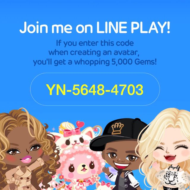 Download LINE PLAY and enter this invitation code for bonuses! YN-5648-4703 http://j.mp/letslineplay