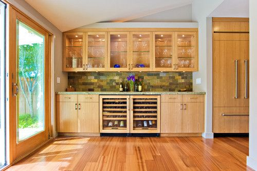 Bay Area Custom Cabinets Family Room Built In With Wine Storage