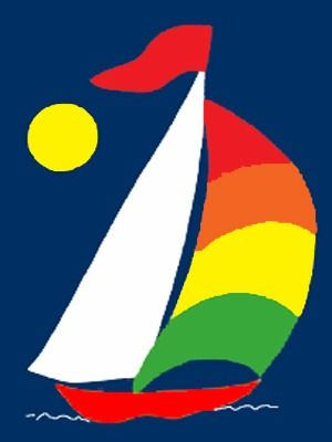Decorative House Flags - House of Flags MA - # 184 Sailboat
