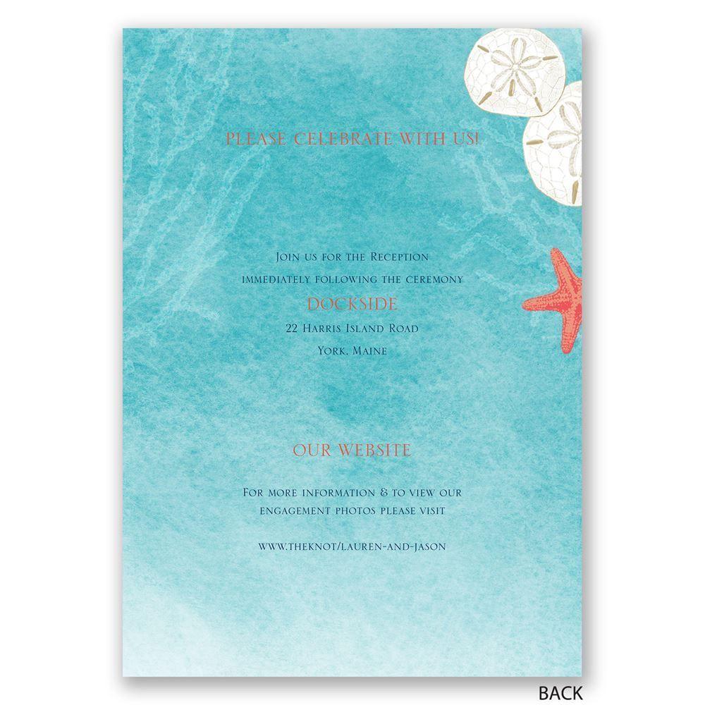 Ocean Adventure All In One Invitation Ocean Weddings And Wedding
